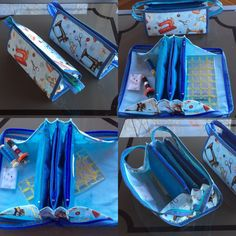 Small Sewing Bag tutorial with flying pockets by QuiltessaNatalie
