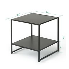 Amazon.com: Zinus Modern Studio Collection 20 Inch Square Side / End Table / Night Stand / Coffee Table, Espresso: Kitchen & Dining