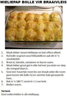 Mieliepap Bolle Vir Braaivleis, dont want to think of the syns in this dish: