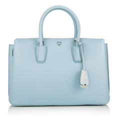 Heavenly perfect: the MCM Milla Tote Medium Sky Blue. Fashionette.com