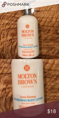 Molton Brown Suma Ginseng Nourishing Body Lotion Molton Brown never used body lotion scent is Suma Ginseng. 100 ml 10 fl oz Molton Brown Makeup
