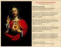 Sacred Heart of Jesus Sacred Heart Novena, Roman Catholic Prayers, Novena Prayers, Heart Of Jesus, Hail Mary, Prompts, Food, Saints, Crochet Designs