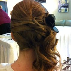 Chris - this one is for you!  :)    Bridesmaid updo.