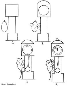 find this pin and more on drawingcoloring sheets by ajolawson how to make hickory dickory dock