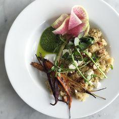 Recipe   Spring Quinoa Salad + Watercress Pesto adapted from Aran Goyoaga