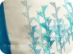 Stitching Borders #embroidery. Great design and looks easy too.