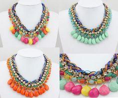 Statement  Necklace, Choker Necklace, Chunky Necklace, Fashion Necklace Women, Bib Necklace, Length 44cm via Etsy