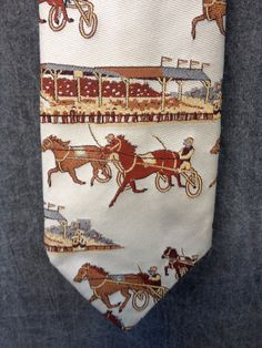 Vintage 70's Horse Track Tie // Lennards Men's by ElkHugsVintage, $14.00