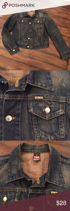 """Diesel Jean Jacket Excellent used condition. All of the buttons say """"diesel"""" on them. Size medium. 100% cotton. Made in Italy. Diesel Jackets & Coats Jean Jackets"""