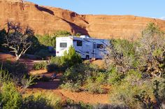 Coachmen Class C Motorhome, Devils Garden Campground, Arches National Park, September 20, 2011 (Pinned by haw-creek.com)