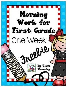 Providing your students with a meaningful task will be a snap with this daily morning work. Take attendance, speak with a parent...your students will have a routine and know that learning begins as soon as they walk in the door. This freebie is a sample of the units for sale at my store.