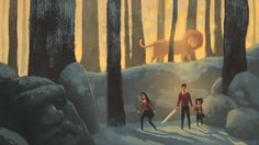 The Lion, the Witch and the Wardrobe by Jake Wyatt