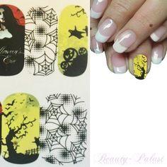 #nailart Halloween Fullcover Nagelsticker www.beauty-palast.net