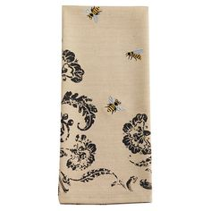 Showcasing a whimsical beehive and flower motif, this charming dishtowel brings lovely style to your kitchen.   Product: Set of 2 di...