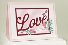 Love Is All You Need Card by Erin Lincoln for Papertrey Ink (December 2013)