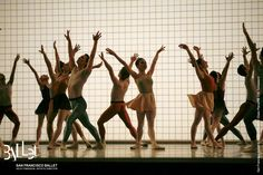 San Francisco Ballet pictured in Jerome Robbins' 'Glass Pieces' (© Erik Tomasson), scored by Philip Glass.
