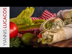 Τορτίγια με κοτόπουλο και γιαούρτι | Yiannis Lucacos - YouTube Tortillas, Youtube, Mince Pies, Youtubers, Youtube Movies