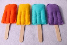 Felt Food- Popsicle. For when I have kids who play pretend food