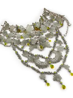 GREAT NECKLACE OF ZAMAC, RHINESTONES AND GLASS DROPS, CHRISTIAN DIOR BY JOHN GALLIANO