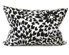 black and white pillow - Google Search