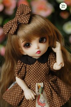Lati Yellow/ Puki Fee Vintage Doll Polka Dot Black by YlangGarden Cute Baby Girl Pictures, Cute Cartoon Pictures, Cute Cartoon Girl, Beautiful Barbie Dolls, Pretty Dolls, Barbie Girl Doll, Cute Baby Wallpaper, Indian Dolls, Cute Baby Dolls