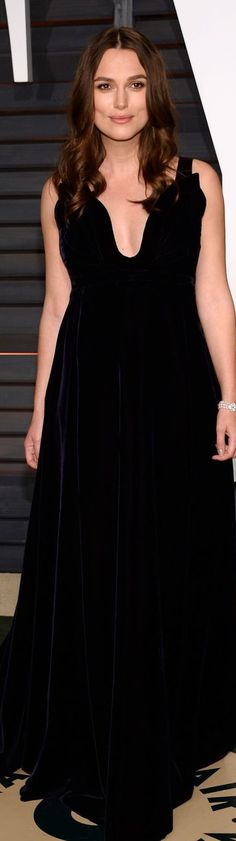 Who: Keira Knightley Wore: Valentino Couture Where: 2015 Vanity Fair Oscar Party via @StyleList