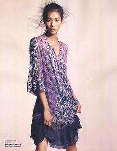 lovelostfashionfound:  Liu Wen - Vogue China February 2008