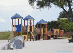 Anna Maria Island, Florida has playgrounds on the beach. Find out where by reading our Beach Guide. Click the Visit button to find out more. #annamariaisland #beachlife