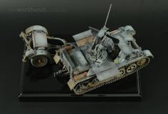 Finished build of the Dragon Flakpanzer 1. 1/35. Painted with Vallejo Acrylics and weathered with oils and pigments.