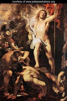Peter Paul Rubens - The Resurrection of Christ (center panel) c. 1611-12