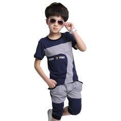 $23.20 (Buy here: https://alitems.com/g/1e8d114494ebda23ff8b16525dc3e8/?i=5&ulp=https%3A%2F%2Fwww.aliexpress.com%2Fitem%2F2015-boys-summer-style-casual-British-plaid-sport-clothing-sets-kids-high-quality-t-shirt-capris%2F32373252772.html ) 2015 boys summer style casual British plaid sport clothing sets kids high quality t-shirt + capris child clothes suits for just $23.20