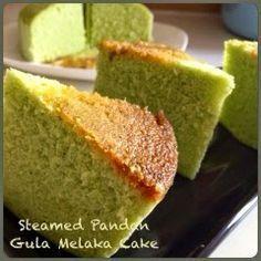 My Mind Patch: Steamed Pandan Gula Melaka Cake 蒸香兰椰糖蛋糕 Pandan Layer Cake, Pandan Chiffon Cake, Cupcakes, Cupcake Cakes, Cake Cookies, Steam Cake Recipe, Molten Cake, Steamed Cake, Steamed Food
