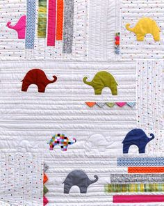 What Colour is an Elephant Quilt Pattern by Jen by shopinthemaking, $15.00