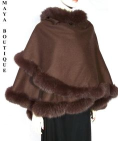 Brown cape with fur trim - $300 (not including cape)