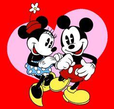 mickey and minnie. hihihi..