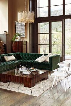 """Search Results for """"anthropologie velvet mina left sectional – domino Living Room Furniture, Home Furniture, Living Room Decor, Living Spaces, Rustic Furniture, Velvet Furniture, Furniture Dolly, Furniture Stores, Modern Furniture"""