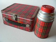 Classic plaid lunch box.  I thought these were super boring when I was a kid, but I have one now and love it.