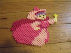 Sleeping Beauty perler bead Fairy  Godmother by ArtsyFartsy26
