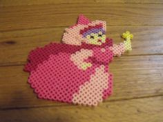 Sleeping Beauty perler bead Fairy  Godmother by ArtsyFartsy26