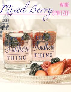 Delicious Mixed Berry Wine Spritzer
