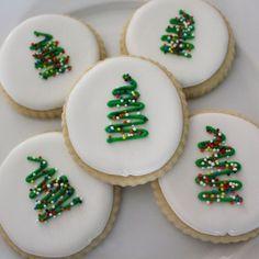 Minimalist Christmas Tree Sugar Cookies by GingerSnapMarket