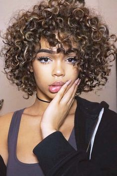Curly Chin Length Hairstyles picture2