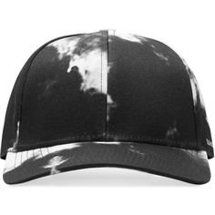 Black Cloud Sport Cap (216.400 COP) ❤ liked on Polyvore featuring accessories, hats, white baseball hat, black baseball hat, sports hats, sports caps and panel hats