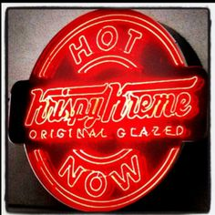 From Krispy Kreme · Can You Find Us? Use The Hot Light App. (App Available  In The