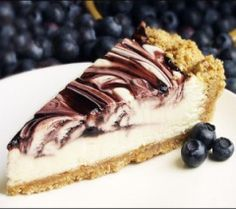 Blueberry-Swirl-Cheesecake
