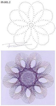 Rit Vanschoonbeek 09.001.2 borduren op papier