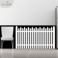 American Dream  White Picket Fence  Vinyl Wall by SissyLittle, $49.99 **only on Etsy
