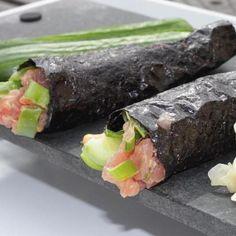 Rice-less Spicy Tuna Hand Rolls