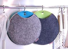 pot holders, but kind of like them as little hanging storage, like for scarves or necklaces