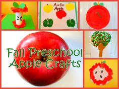 Fall Preschool Apple Craft Ideas--can also be used to celebrate Johnny Appleseed's birthday Preschool Apple Theme, Fall Preschool Activities, Apple Activities, Preschool Crafts, Preschool Apples, Preschool Education, Preschool Classroom, Toddler Activities, Fall Crafts For Kids